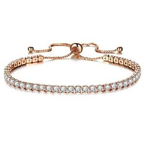 Jewelry - NEW clear crystal tennis net adjsutable bracelet